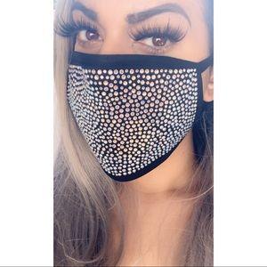 Bling rhinestone mask fashion